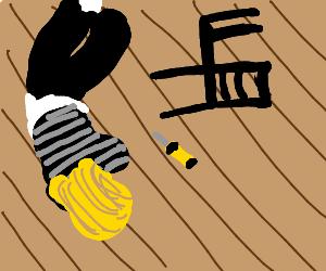 fancy snake with a lisssssp - Drawception