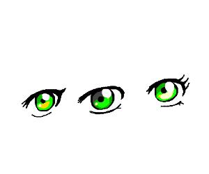 Pretty green yellow eyes