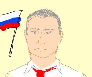 Putin with gray hair