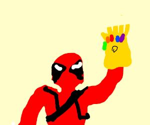 deadpool has the infinity gauntlet