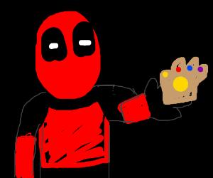 Deadpool stole the infinity gauntlet!