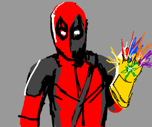 deadpool w/ the infintiy guantlet