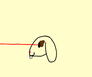 bunny with laser eyes