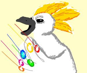 bird with infinity gem