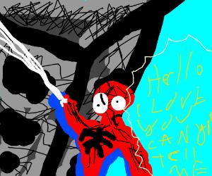 spiderman sings something