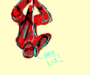 Spiderman calls his crush while swinging