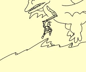 Knight slaying dragon