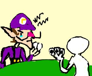 Waluigi hates when u cheat at poker