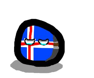 Depressed island