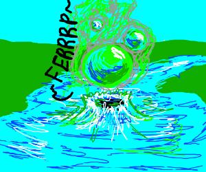 a farting lake