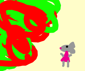 mousegirl cannot stop the greenred chaos storm