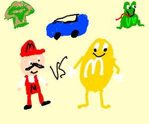 Mario VS M&Ms, Frog, Luigi Mushroom, Car