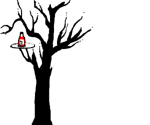 tree with ketchup