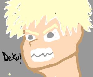 Bakugou is mad at Deku