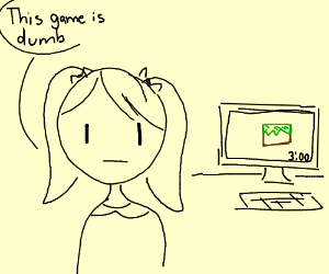 Girl thinks minecraft is dumb, 3:00(am maybe?)