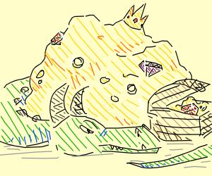 Dragon guarding his treasure