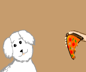 Pupper its pizza