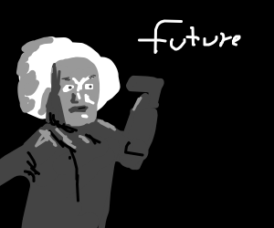 Einstein sees the future and shoots himself.