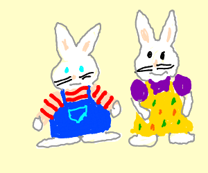 bunnyes named max and ruby