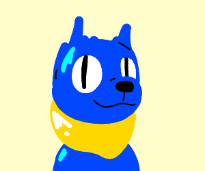 Blue cat with no ears