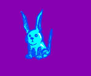 Shiny blue pointy-eared animal