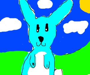 A blue bunny (Nice drawing :D!)