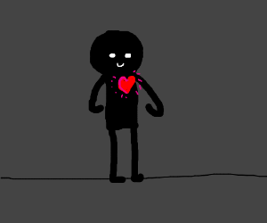 Black guy got a heart