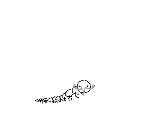 centipede with mustache