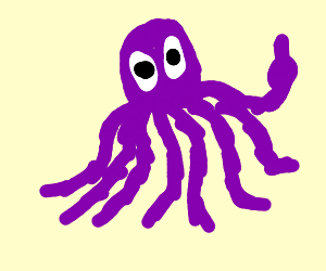 What a rude octopus.