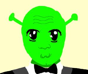 Shrek in a tux