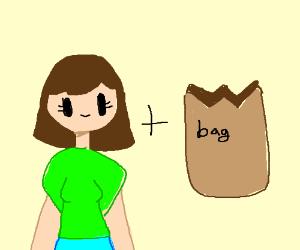 girl + bag