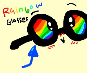 Rainbow glasses