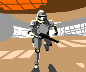 Storm Trooper Running
