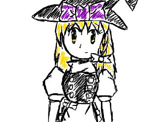 the touhou girl with the hat and yellow hair