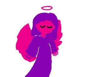 a pink angel
