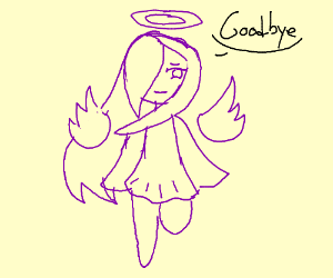 A purple angel ascending