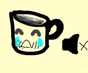 sad mime mug