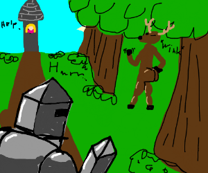 Knight Meets a Thicc Deer