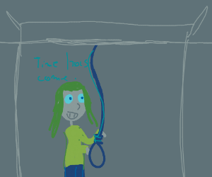girl wants to hang with a noose