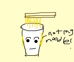 a cup of noodles is sentient