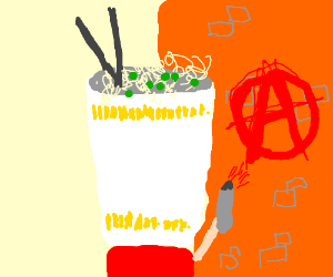 Cup of noodles is an anarchist