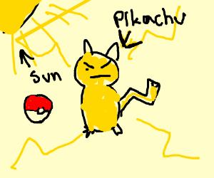 pikachu in the sun