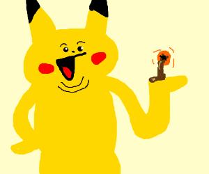 Pikachu has an orange asshole