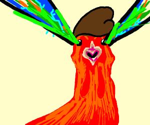 Laser Eyed Chicken with Pompadour