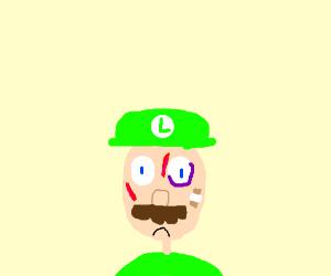beaten up Luigi