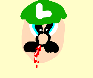 Luigi has a nose bleed