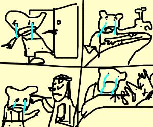 The loss meme 4 panels deep.