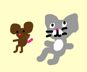 tom and jerry sitting