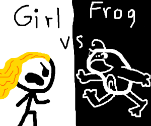 Frog vs Girl