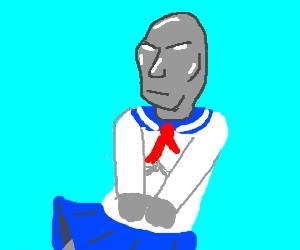 Silver Surfer schoolgirl